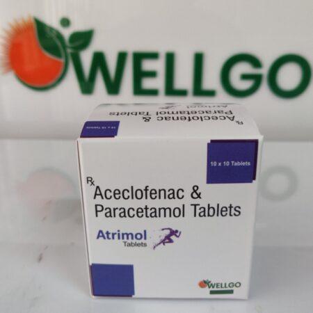Aceclofenac 100mg+ Paracetamol 325 Mg pcd
