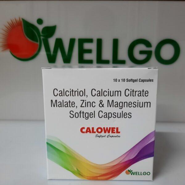 Calcitriol 0.25mcg + Calcium Citrate 500mg +elemental of magnesium excipients 50 mg ,elemental zinc magnesium oxide 7.5 mg