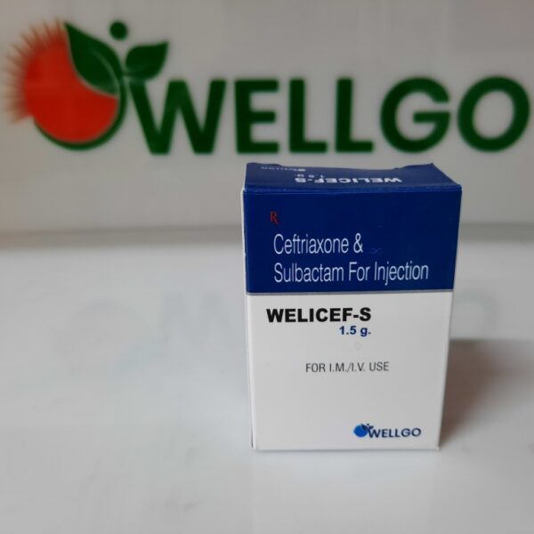 Ceftriaxone 1000mg+sulbactam 500mg injection pcd
