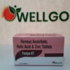 Ferrous ascorbate, folic acid and Zinc tablets pcd