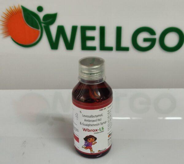 Levosalbutamol 1mg + Ambroxol30 Mg + Guaiphenesin 30 Mg syrup pcd
