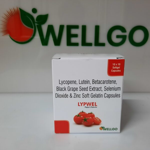 Lycopene 10% (5000mg)+lutein 8%(2000mg)+grape Seed Extract 10 Mg+beta Carotene 10% Zinc 27.45 Mg+selenium 70 Mcg.