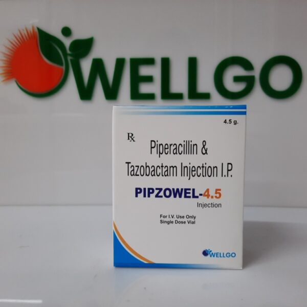 Piperacillin 4gm + Tazobactam 0.5gm injection