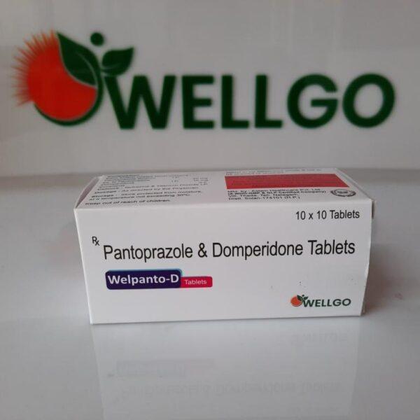 Pantoprazole 40mg + Domperidone 10mg tablets