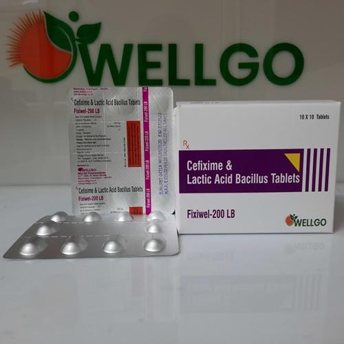 Cefixime 200 Mg L Lactic Acid Bacillus 60 Million Spores TABLETS PCD