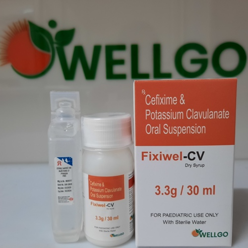 Cefixime 50Mg + Clavulanate 31.25Mg Dry Syrup With WFI PCD