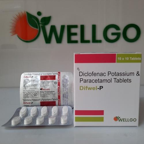 DICLOFENAC potassium 50Mg + Paracetamol 325Mg Tablets pcd
