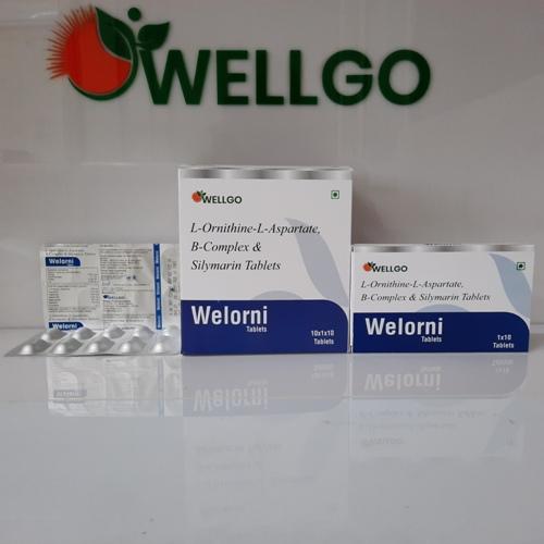 L-ornithine L-aspartate B-complex & Silymarin tablets PCD