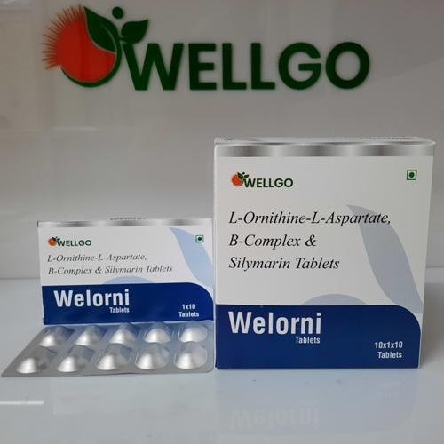 L-ornithine+l-aspartate 250 Mg+b-complex & Silymarin tablets pcd